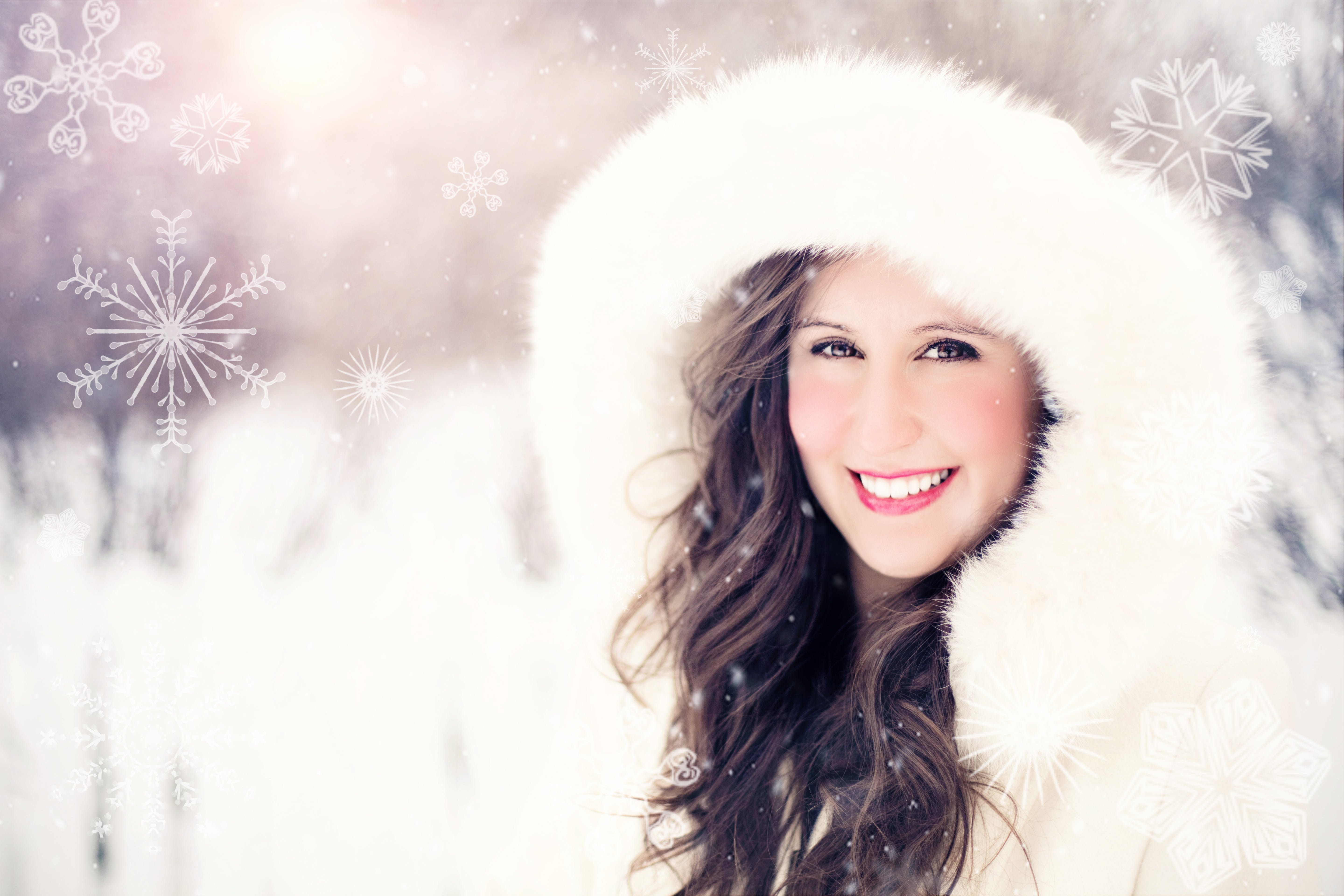 Free stock photo of cold, portrait, smiling, snow