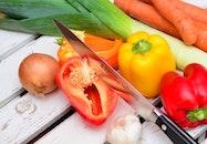 food, vegetables, knife