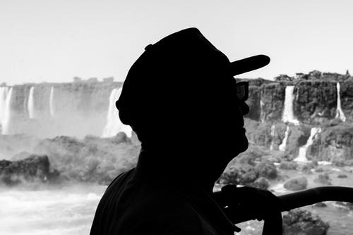 Free stock photo of 1 homem, black and white, Cataratas do iguaçu, Foz do Iguaçu