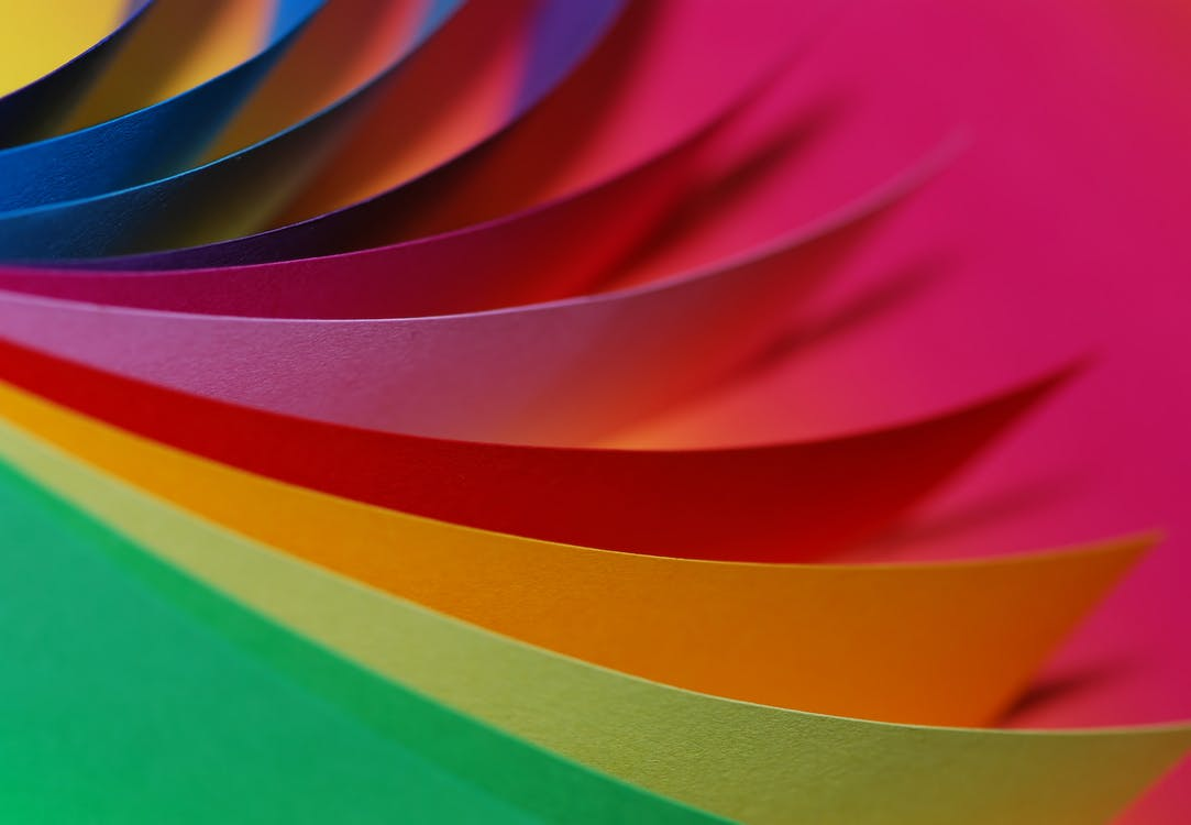 carta, colorato, colori