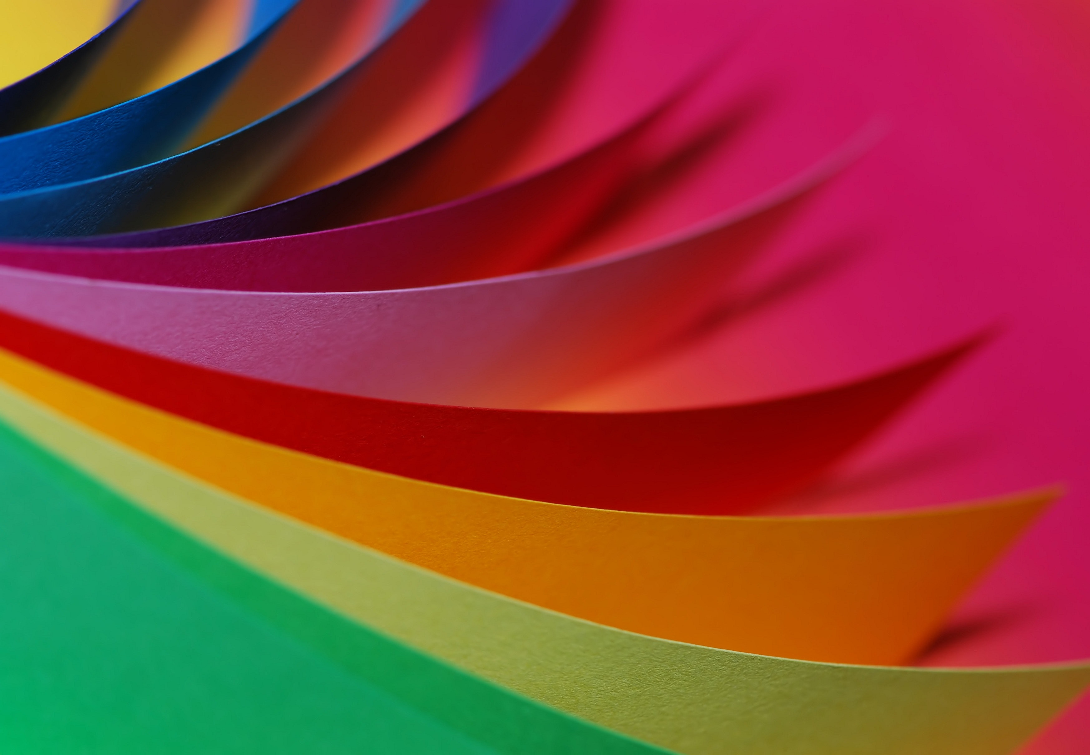 up photography of different type of colors of paper