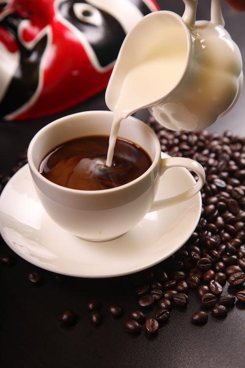 카페인, 커피, 커피 원두, 컵의 무료 스톡 사진