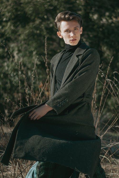 おとこ, コート, スーツ, スタイルの無料の写真素材