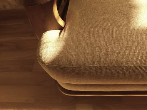 Brown Wooden Glider Chair