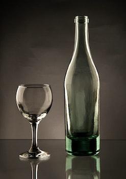 Free stock photo of bottle, wine glass, drinking glass