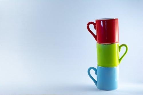 Blue, Pink and Green Ceramic Mug