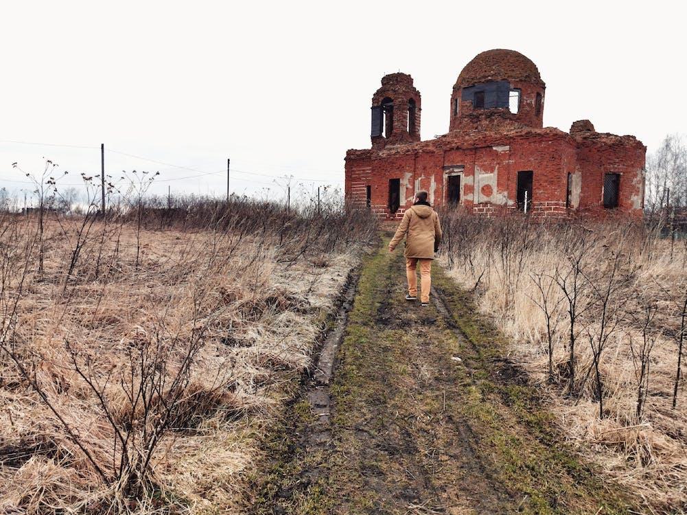 abandonné, ancien, architecture