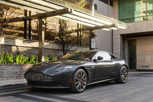 Black Aston Martin Parked Near Building