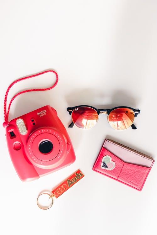 คลังภาพถ่ายฟรี ของ instax, กระเป๋าสตางค์, กล้อง