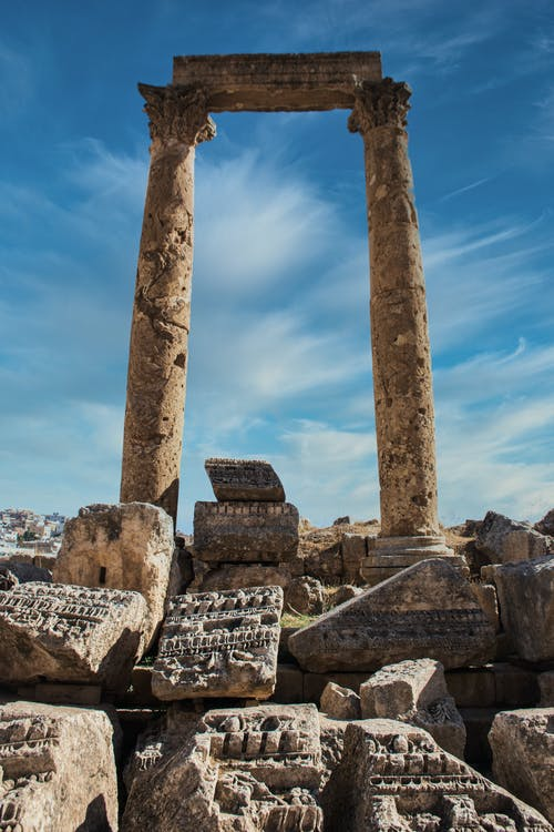 Ruins of Ancient Temple in Jordan