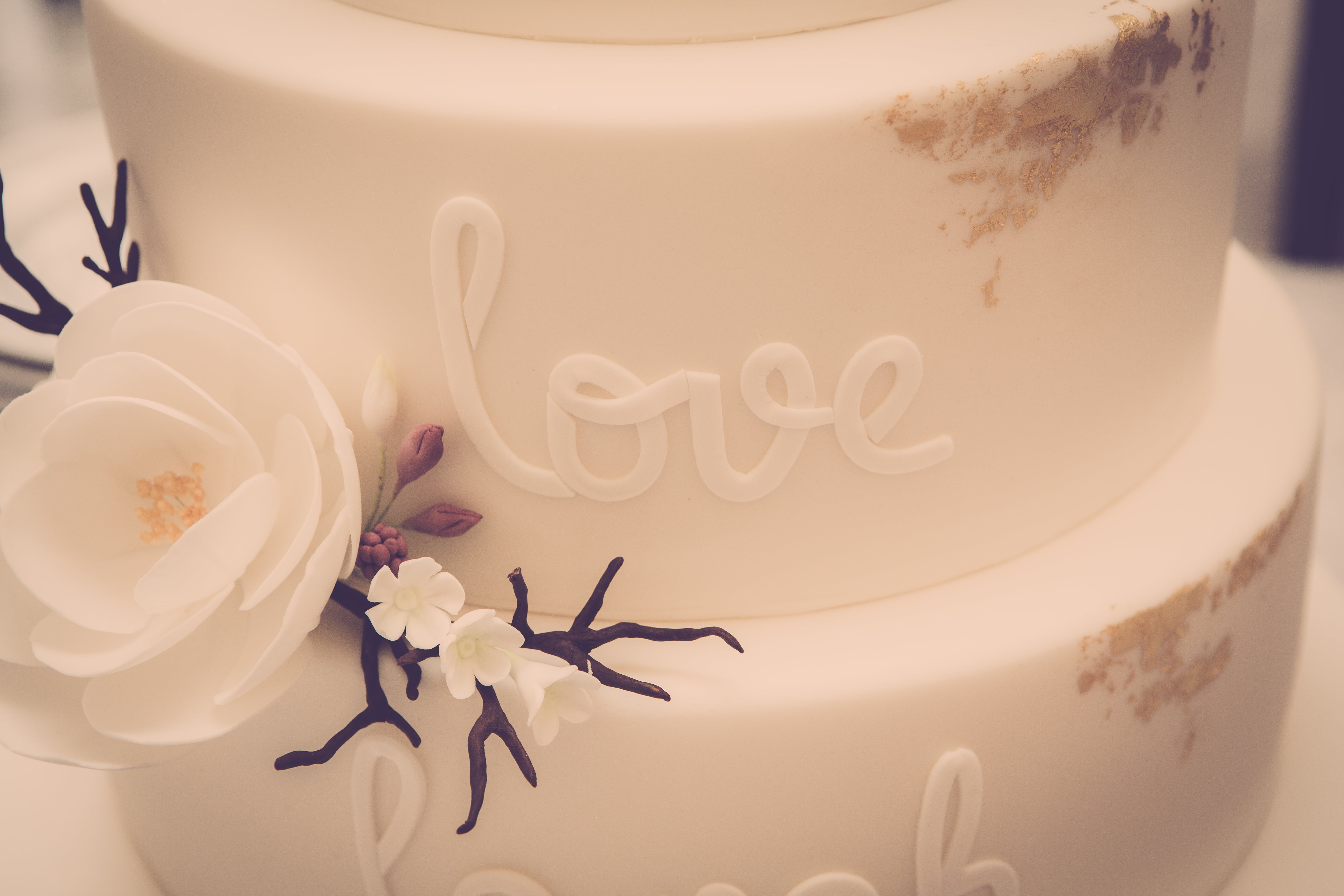 White Icing-covered 3-tier Cake
