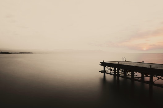 Free stock photo of jetty, light, sea, dawn
