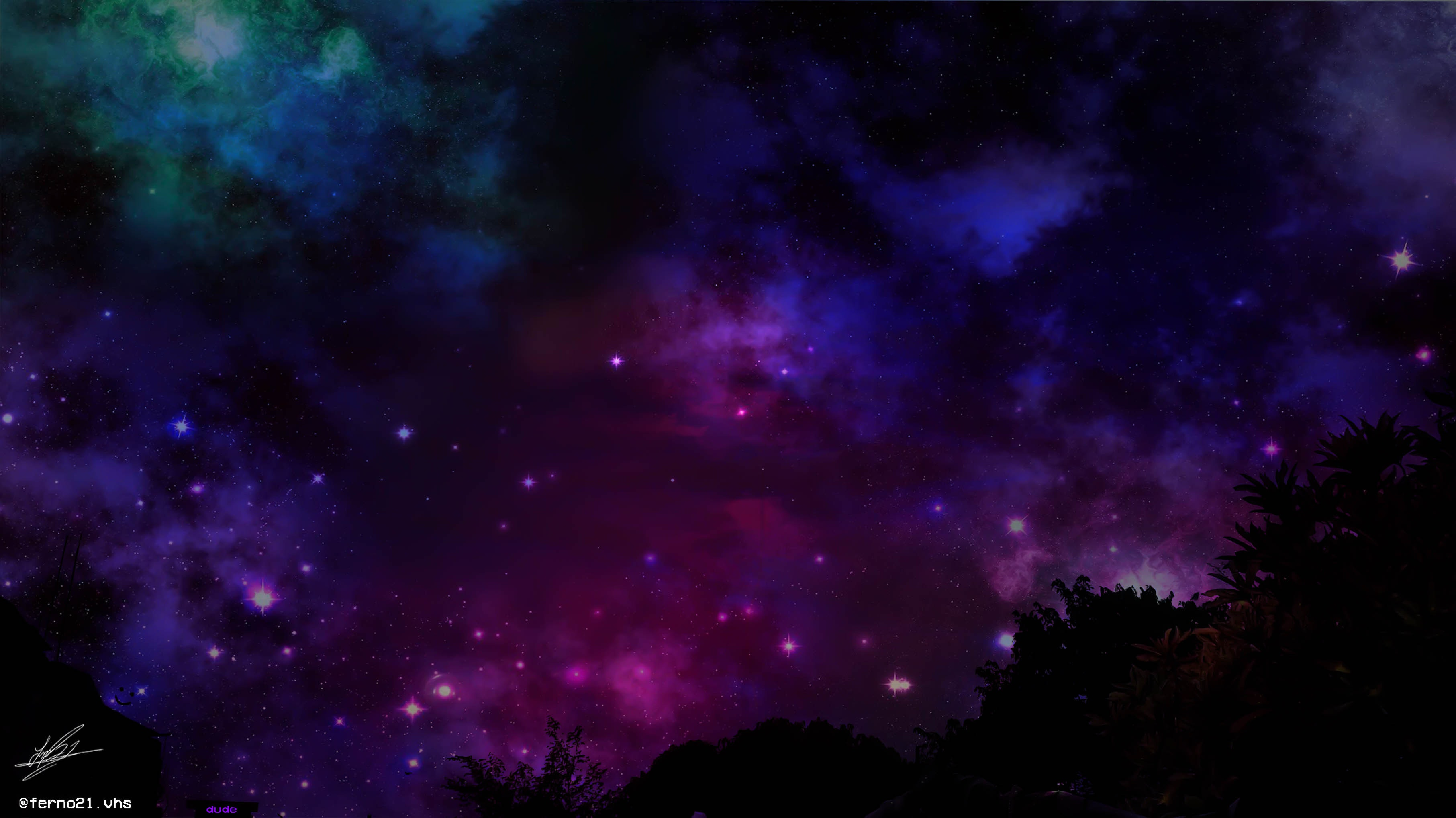 free stock photo of galaxia, purple, sky