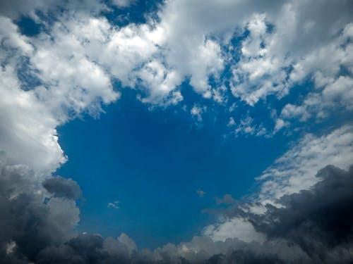 Free stock photo of blue sky, cloud, dark clouds, moody