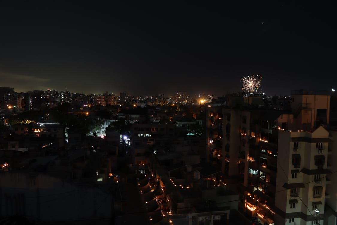 Free stock photo of 9 pm 9 minutes, Lights for India