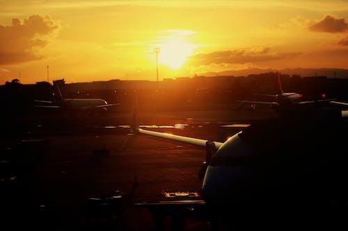 Free stock photo of airport, beautiful sky, beautiful sunset
