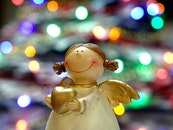 christmas, angel, close-up
