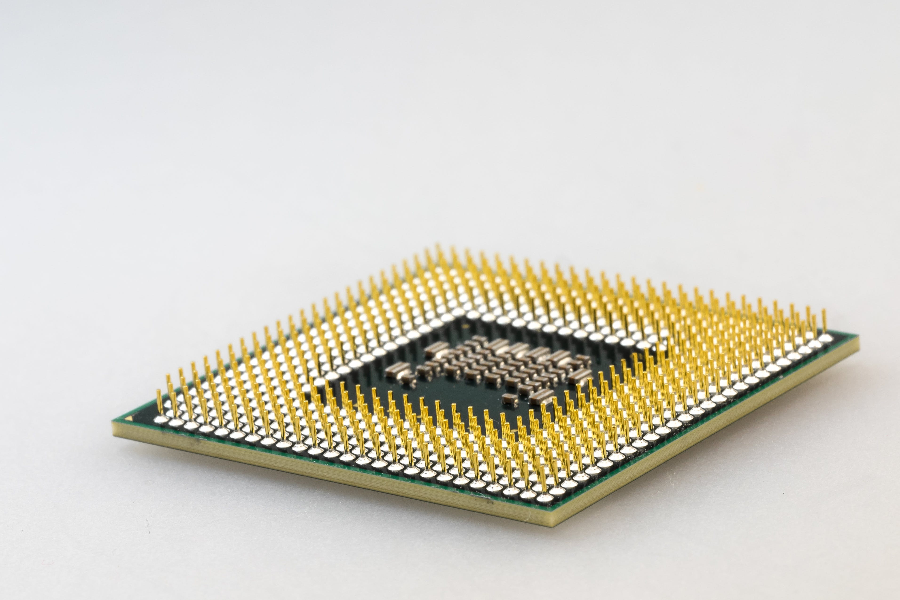 Brown and Green Computer Processor