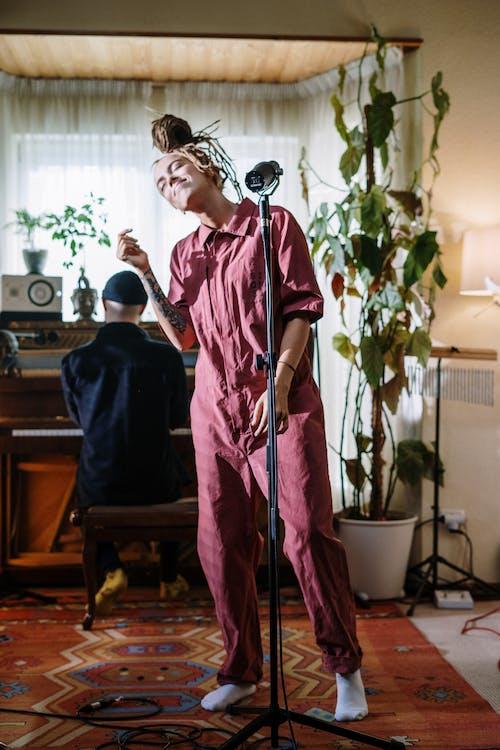 dreadlock, 作曲家, 儀器, 呆在家裡 的 免費圖庫相片