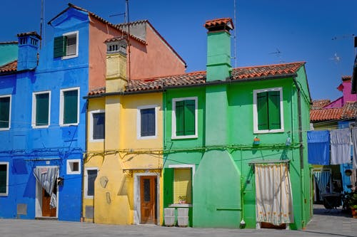 Free stock photo of bright colours, burano, house, venezia