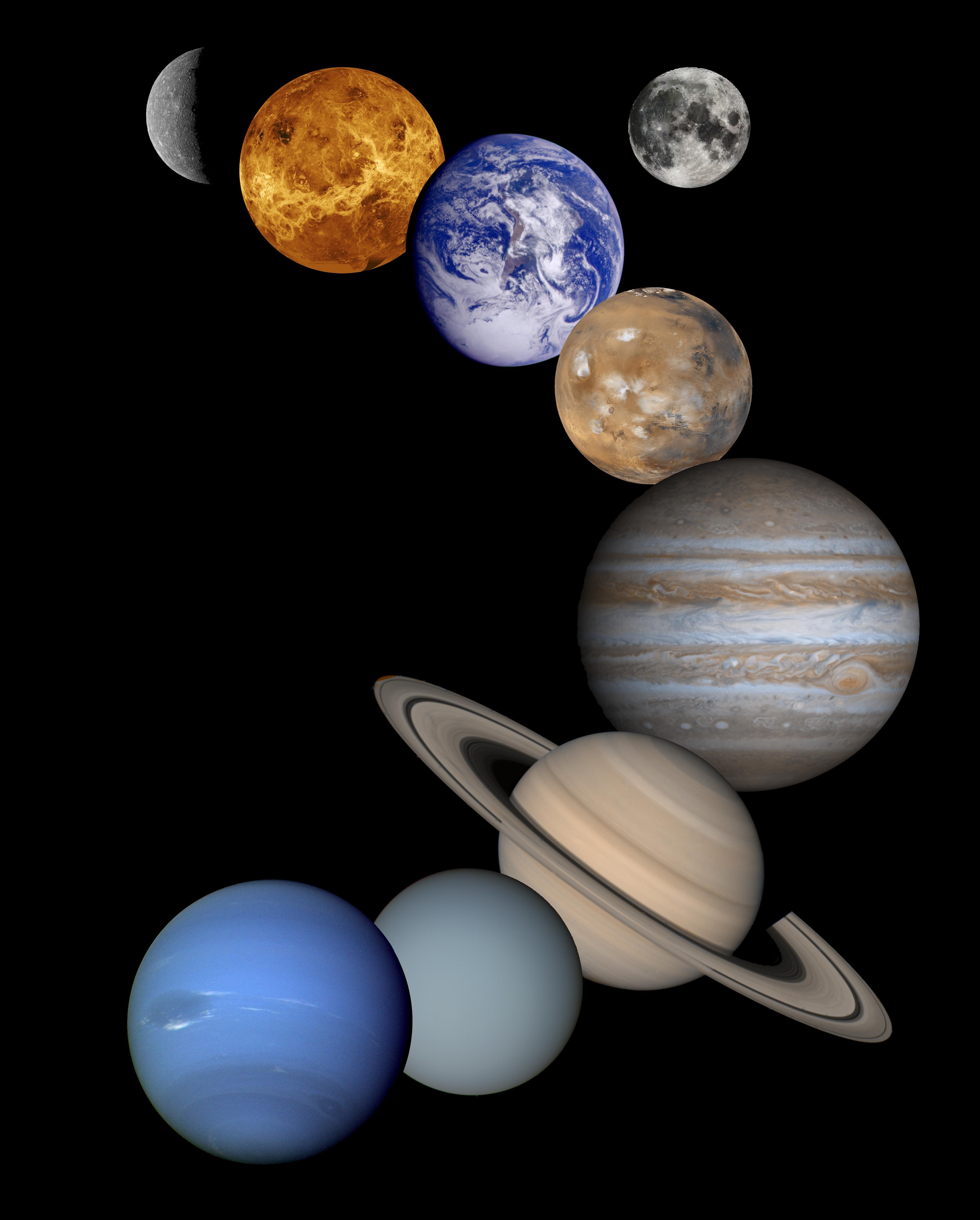 Free stock photo of earth, jupiter, mars, mercury