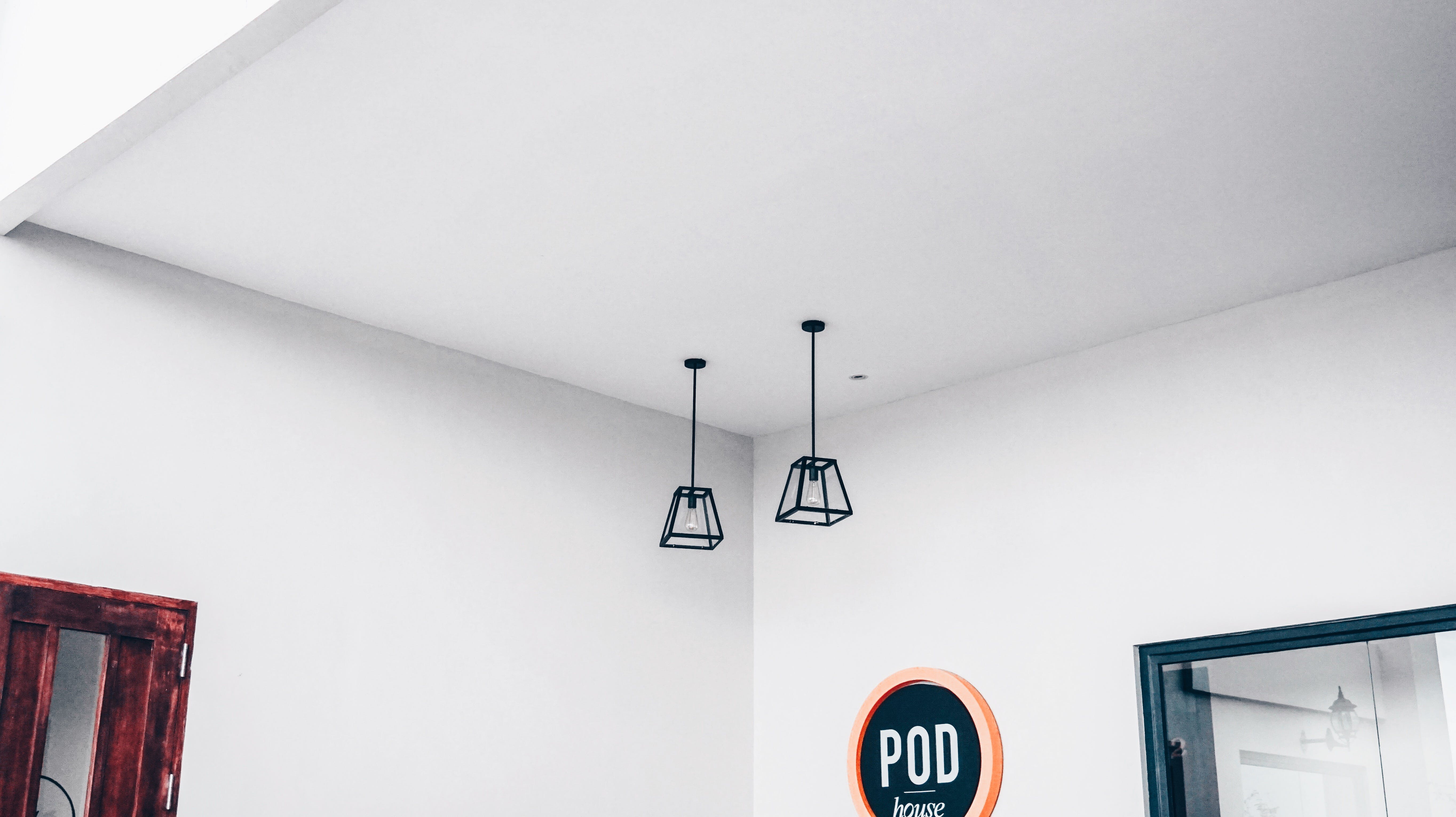 Two Black Pendant Lamps