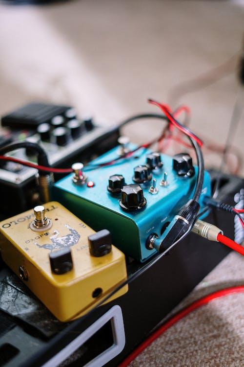 Yellow and Green Audio Mixer