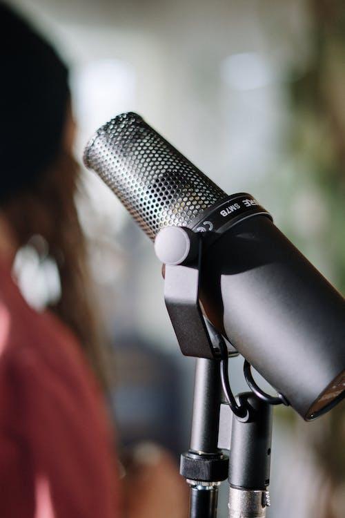 Foto stok gratis alat musik, detail, dudukan mikrofon