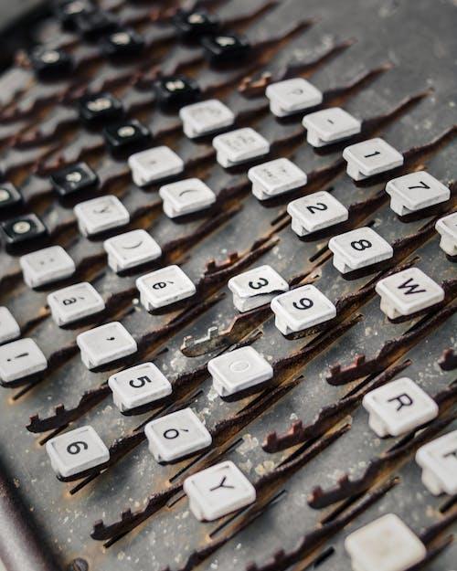 Close Up of an Old Broken Typewriter