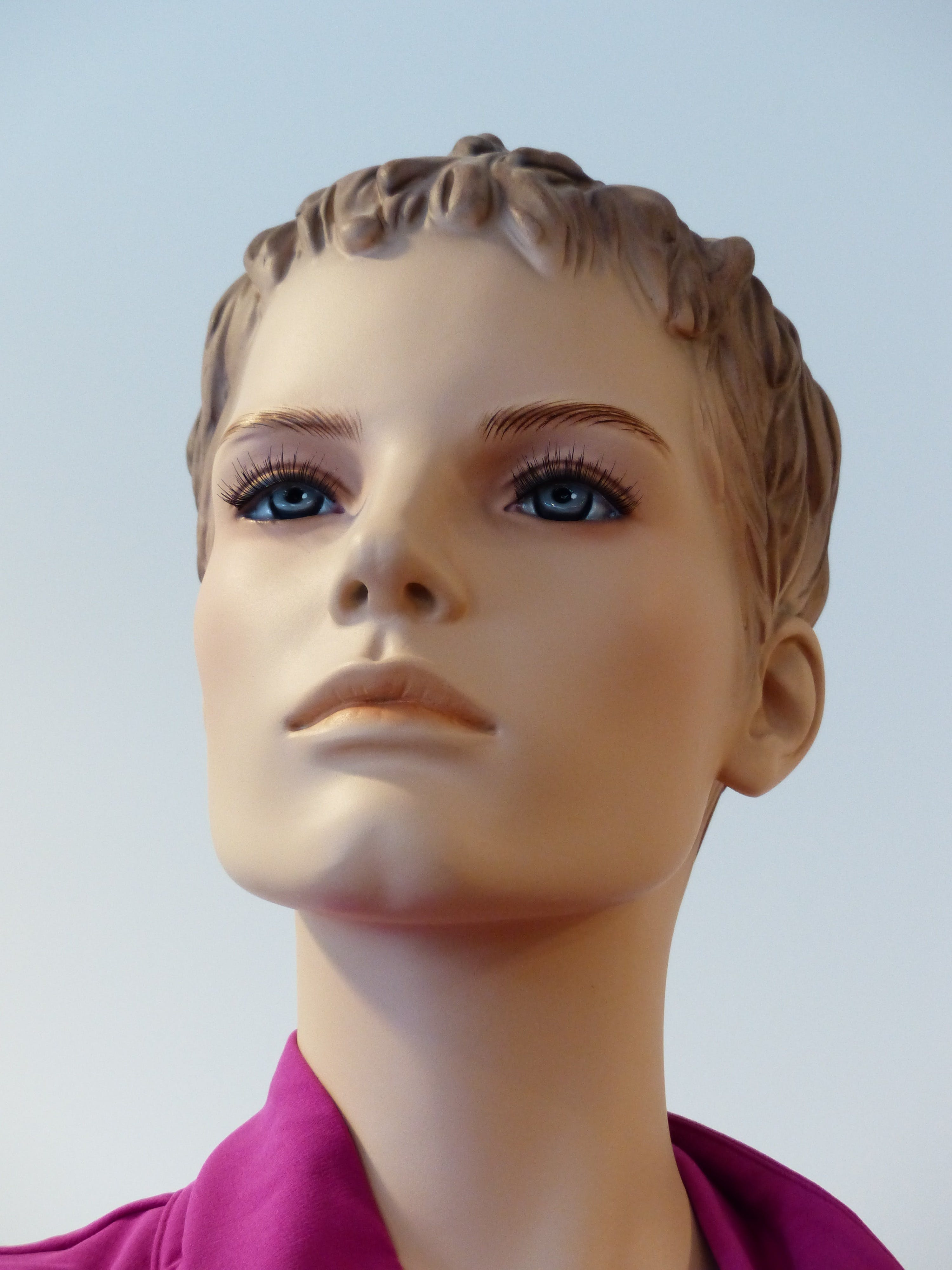 Pink Shirt on Mannequin