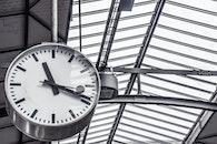 time, train station, clock