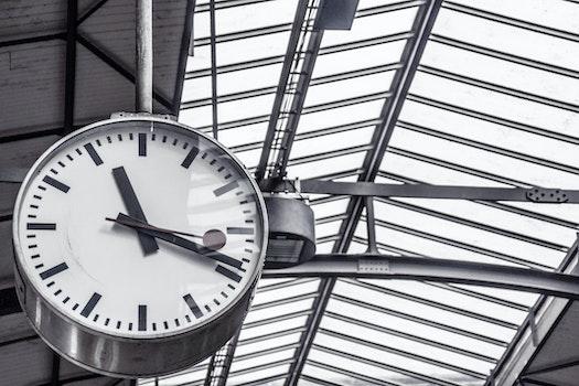 Free stock photo of time, train station, clock, deadline