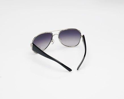Black Grey Framed Aviator Style Sunglasses