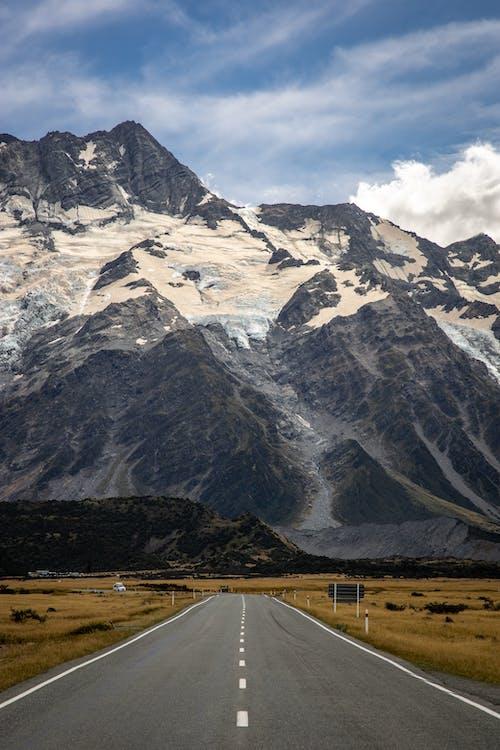 White and Black Mountain Under White Sky