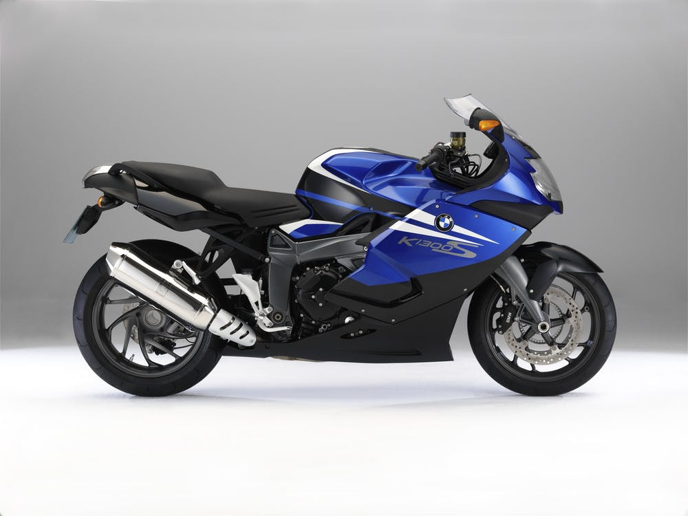 Black and Blue Sports Bike