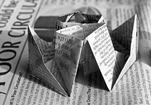 Kostenloses Stock Foto zu kunst, origami, schwarz und weiß, schwarzweiß