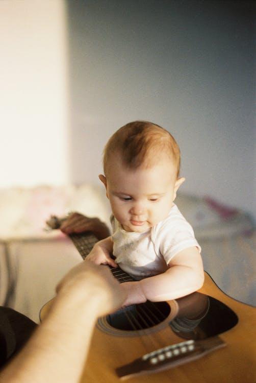 兒子, 兒童, 原聲吉他 的 免費圖庫相片