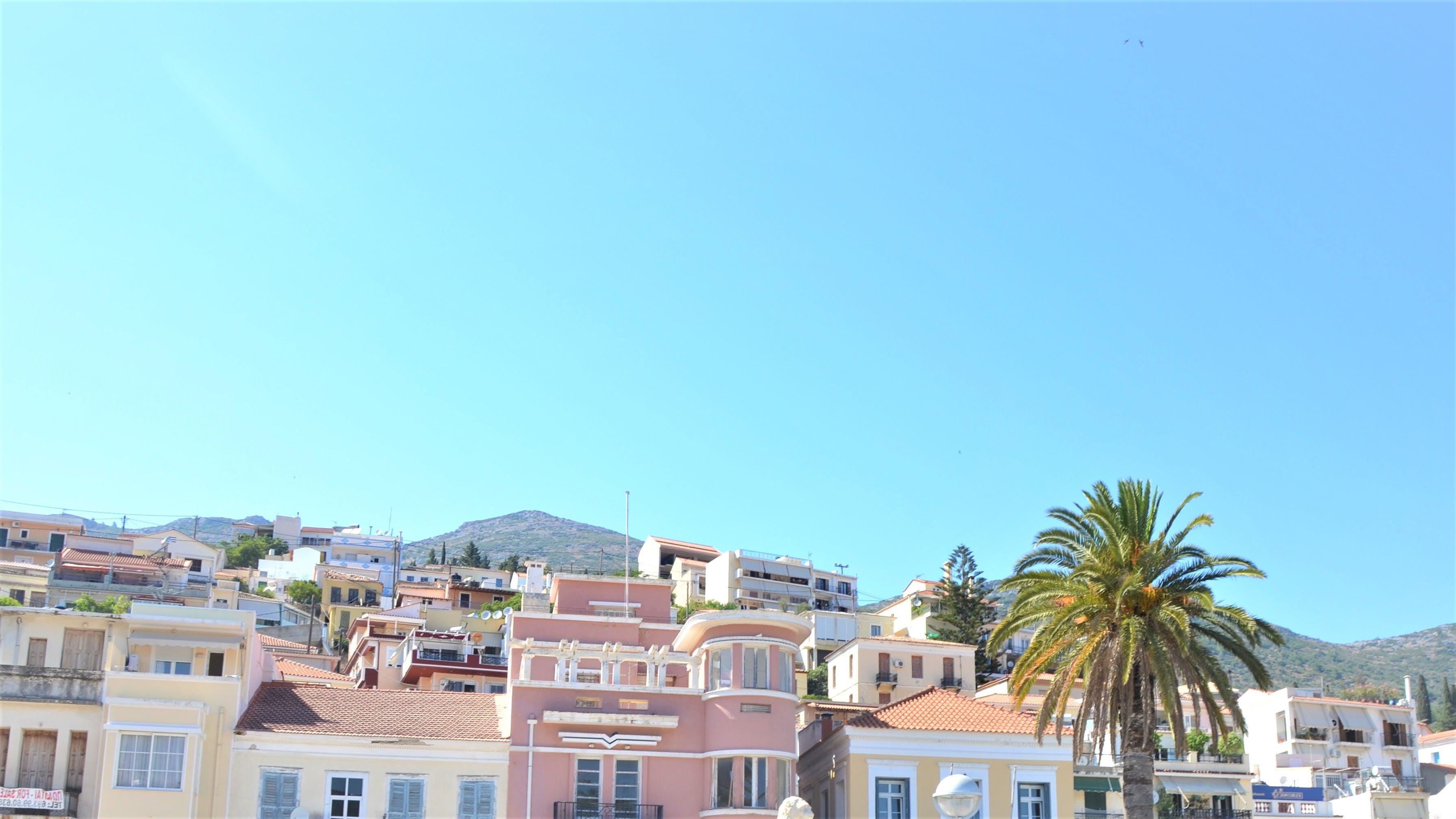 Free stock photo of greece, old house, palmtree, Samos
