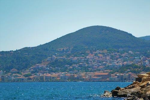 サモス, タウン, 地中海, 山の無料の写真素材