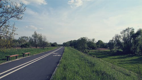 Бесплатное стоковое фото с spirng, велосипедная дорожка, солнечный