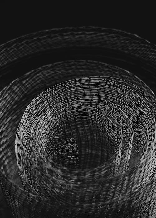 Black and White Spiral Illustration