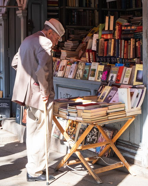 Man Looking for Books