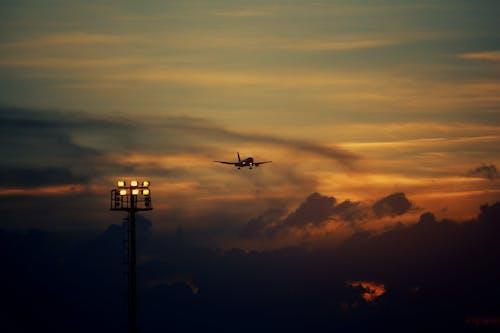 Free stock photo of aeroplane, avion, light