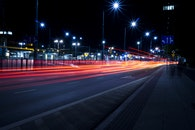 light, city, cars