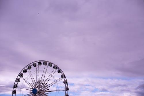 Free stock photo of carousel, copy space, ferris wheel