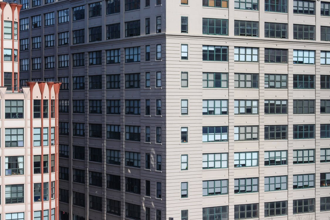 apartament, architektura, biuro