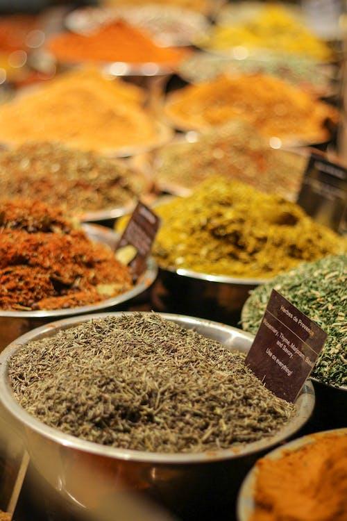 Foto profissional grátis de erva, feira, mercado de alimentos, mercado de especiarias
