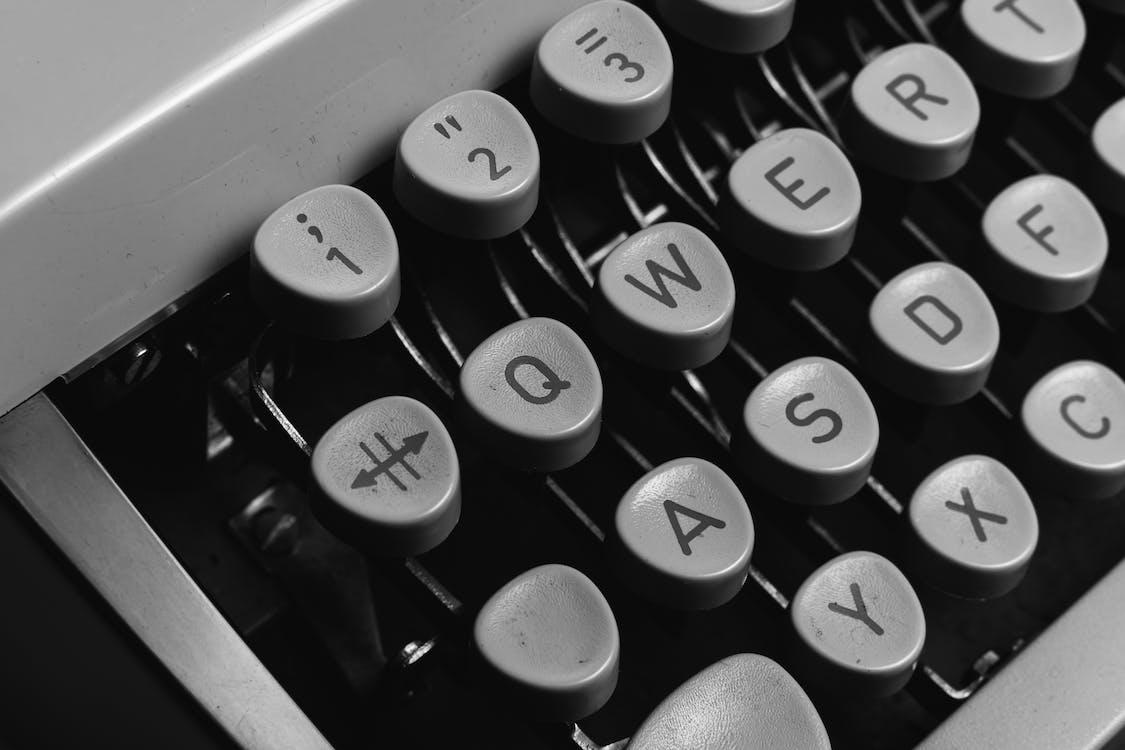 Gray and Black Typewriter Keyboard