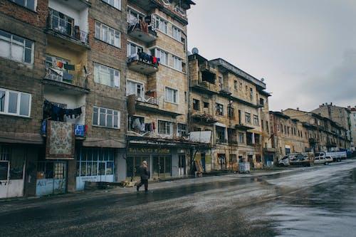 People Walking on Street Near Buildings