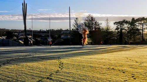 Free stock photo of coast guard, Orange Smoke for landing